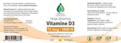 Etiket Solmag vitamine D3 3000 IE