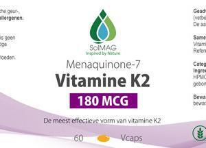 Etiket vitamine K2 180 mcg