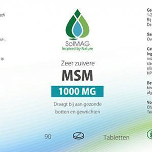 Etiket Solmag MSM 1000 mg tabletten